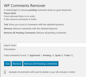 WP Comments Remover