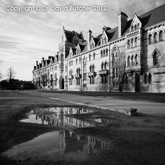 Christ Church College Oxford and Puddle Reflection
