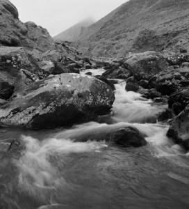 Carrountoohil and falls from Hags Glen