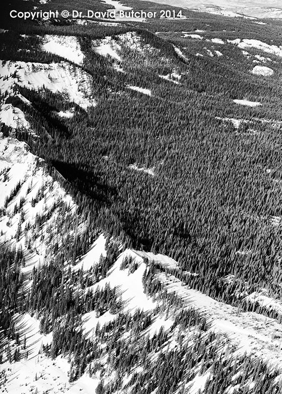 Mount Zirkel Wilderness from the Air