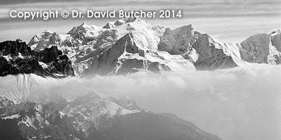 Mont Blanc from Tete de Sallaz