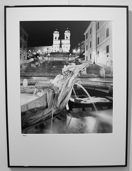 Spanish Steps at Night, Rome, framed