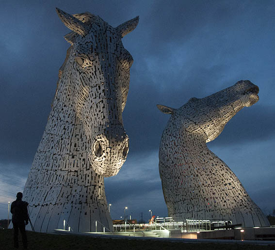 Kelpies at Dusk