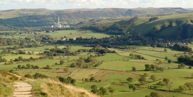 Castleton and Hope Cement Works from Hollins Cross