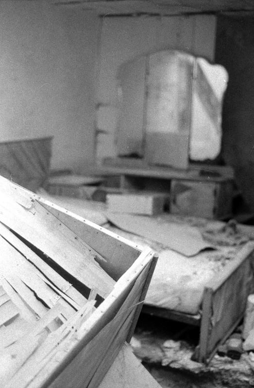 Abamdoned,destroyed room,Pushed, asa400,asa1600,35mm film, 120 film, black and white,Valletta, Darkroom Malta