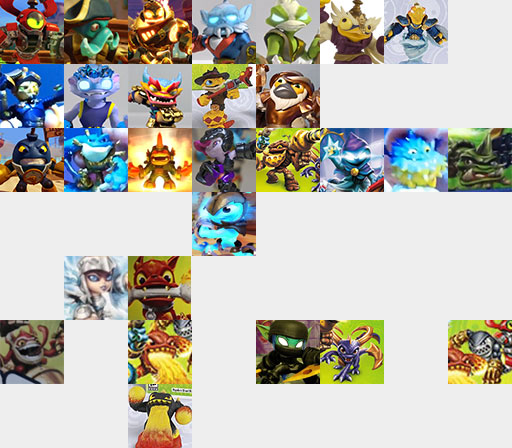 Collage der neuen Skylander Charaktere