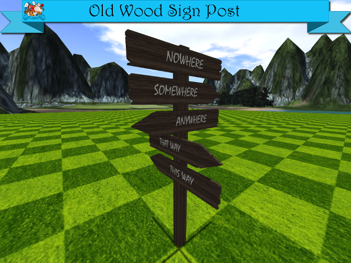 Old Wood Sign Post
