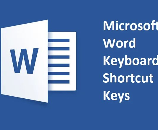 Microsoft Word Keyboard Shortcut Keys List