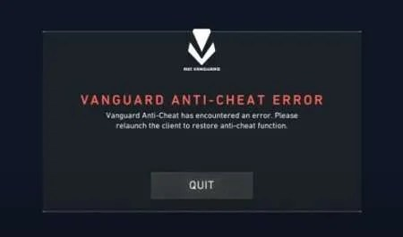 vanguard anti cheat not finished installing restart computer to fix