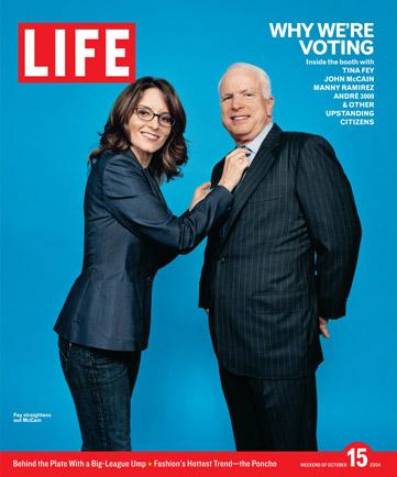 Tina Fey and John McCain on Life Magazine Cover