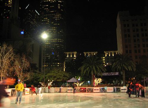 Pershing Square ice skating