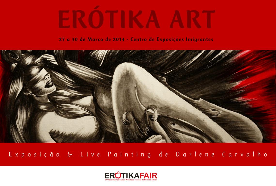 Erótika Fair 2014 — Flyer da ErótiKa Art de Darlene Carvalho