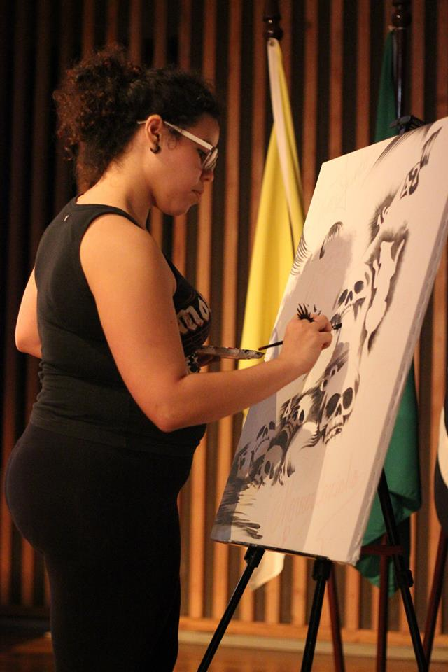 Live Painting no Dharma Day