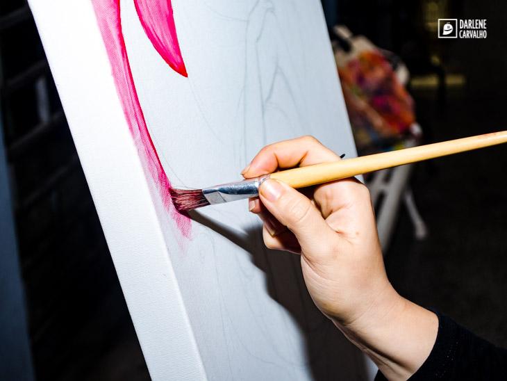 darlene carvalho pintando ao vivo