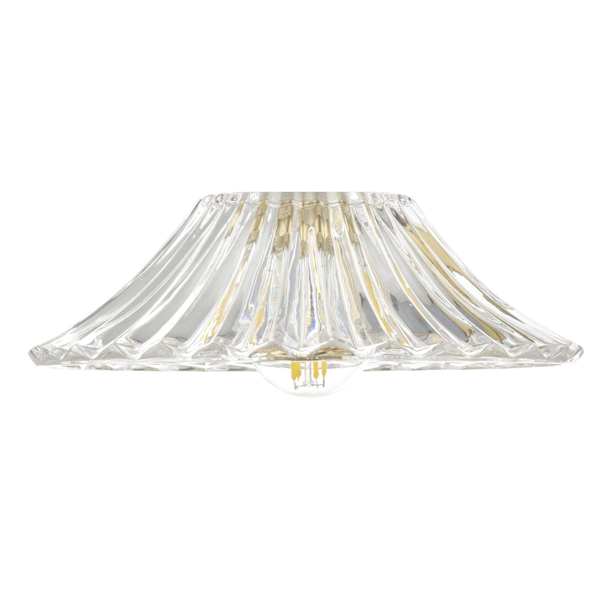 Accessory Clear Flared Glass Shade Only