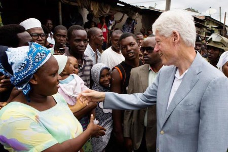 Former US President Bill Clinton during a visit to Tanzania in 2013. Photo: Facebook