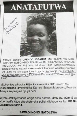 A copy of the advert in Wednesday's Mwananchi newspaper, as circulated on social media.