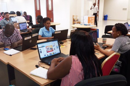 Staff at the Kaymu offices in Dar es Salaam. Photo: contributed
