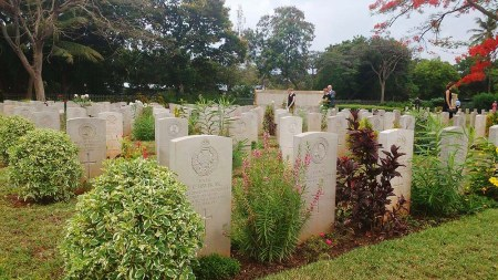 Over 100 people attended a joint Remembrance ceremony at the Dar es Salaam War Graves on Sunday. Photo: Lucy Ashby