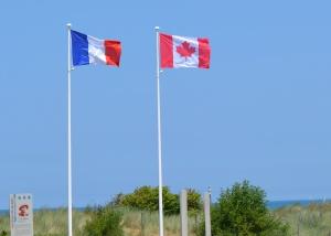 Flags at Juno Beach