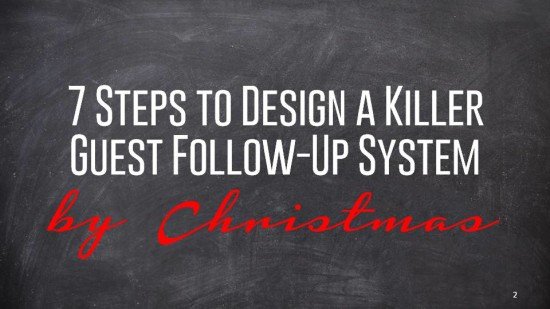 How to Build a Killer Guest Follow-Up System - before Christmas!