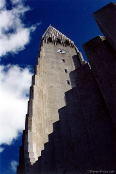 The Hallgrimskirkja (Hallgrim's Church) in Iceland