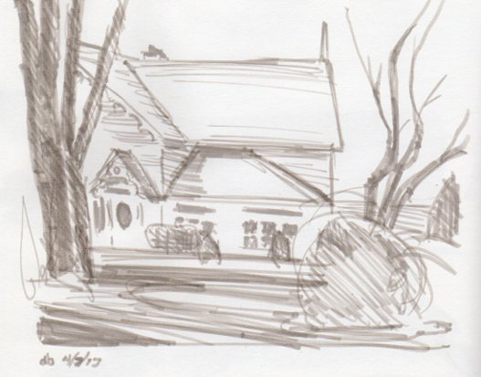 "Thorold house sketch 5"" x 7"""