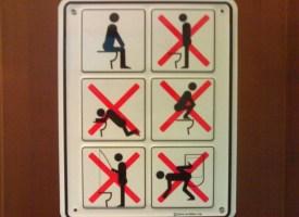 Toilet Usage Instruction