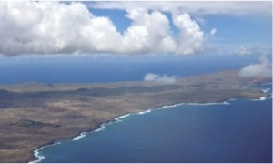 easter island from sky