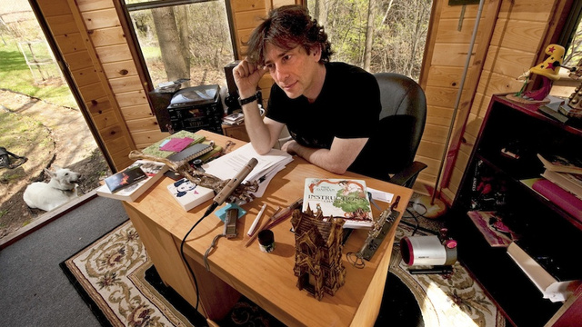 Neil Gaiman in his natural habitat