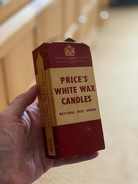 Price's white candles - old box