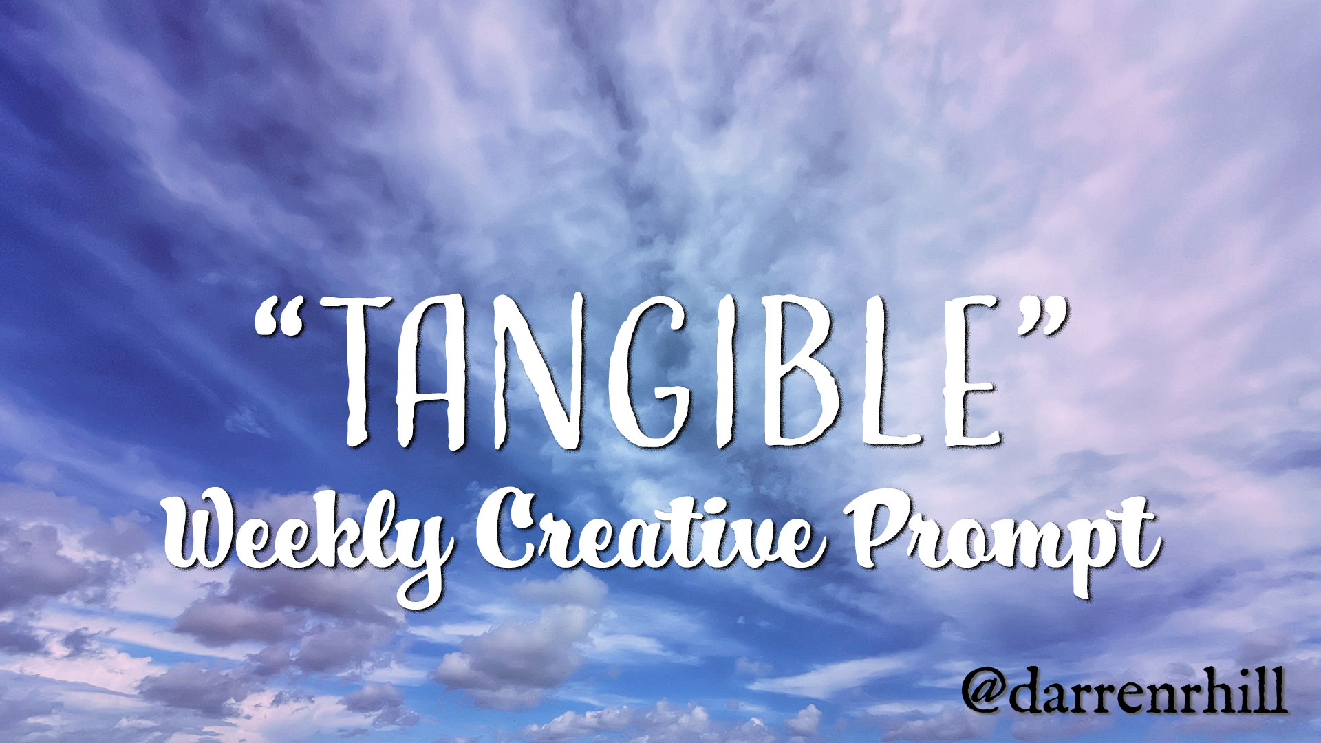 tangible weekly creative prompt