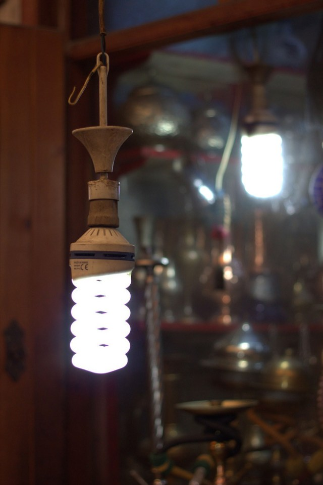 """""""An energy efficient bulb in a shop in Gaziantep, Turkey"""" by World Bank Photo Collection on Flickr"""