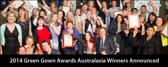 Winners photo for the 2014 Green Gown Awards Australasia