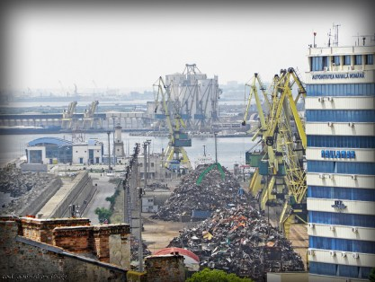 """""""Piles of scrap iron prepared to be shipped from Constanta Harbour, Romania"""" by Gabriel on Flickr"""