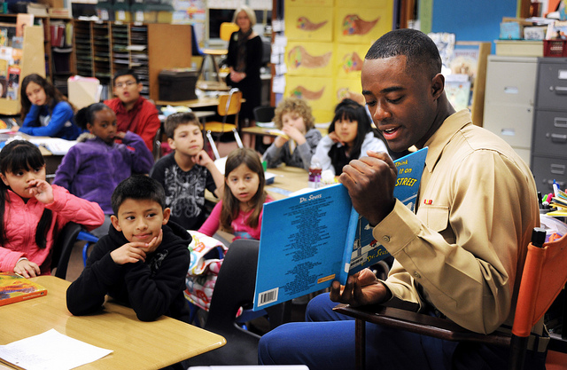 """Marines, kids and books: Oh My!"" by Presidio of Monterey on Flickr"
