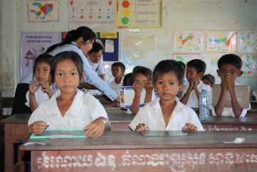 """""""Cambodia: Children Seated at Desk"""" by Global Partnership for Education on Flickr"""