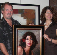 David and Mariam, the portrait's subject