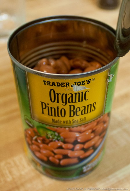 Trader Joe's Can of Beans 2/3 Full