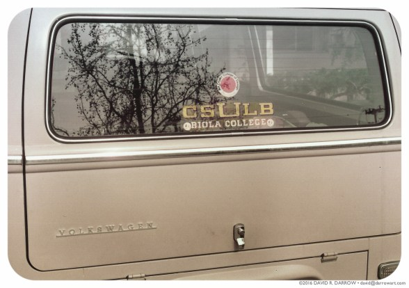 1970 Volkswagon Bus with 3 College Decals