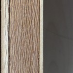 Gap between veneer and door substrate