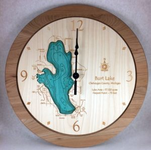 Burt Lake Wall Clock