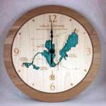 Michigan Inland Waterway Wall Clock