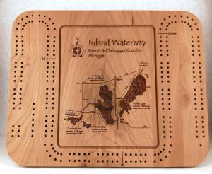 inland waterway cribbage board