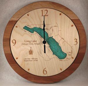 long lake wall clock