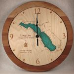 long lake wall clock