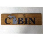 rustic cabin sign