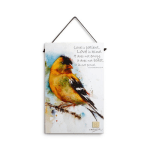 goldfinch inspirational wall plaque dean crouser