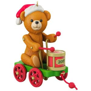 Santa Certified Final Teddy Bear and Toy Drum Pull Toy