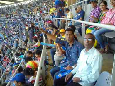 Me and Dad at wankhede stadium IPL 6